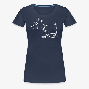 Girlieshirt mit Terror-Terrier - Frauen Premium T-Shirt