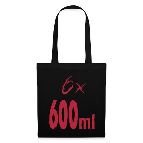 6x 600ml - print on Front - Tote Bag
