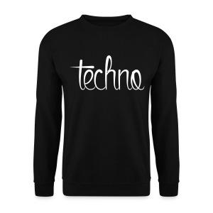 Techno Heren Trui Zwart - Mannen sweater