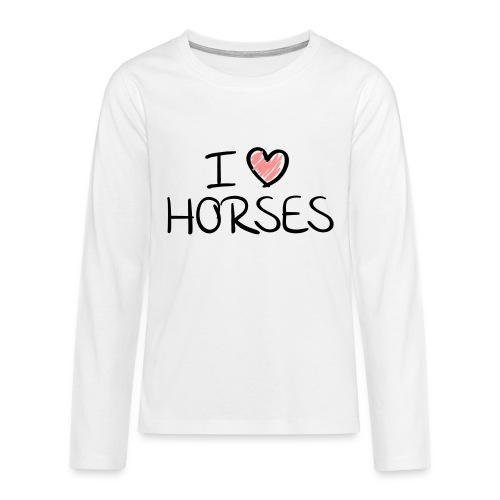 I love horses kids - Teenager Premium shirt met lange mouwen