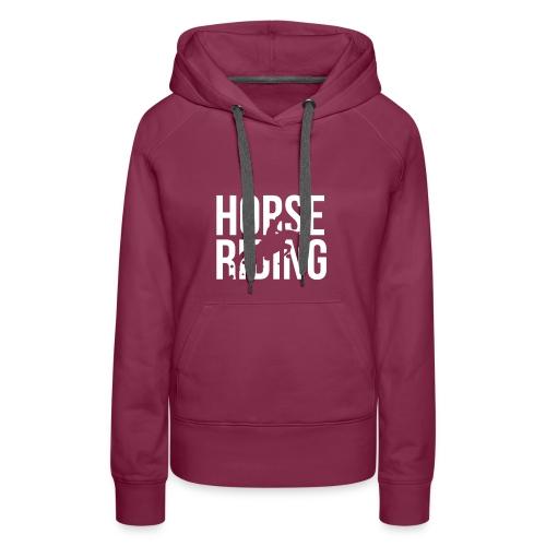 Horse riding dames - Vrouwen Premium hoodie