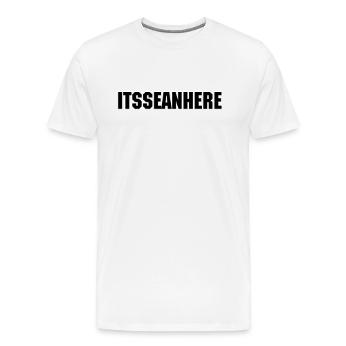 ItsSeanHere Official Black & White Tee - Men's Premium T-Shirt