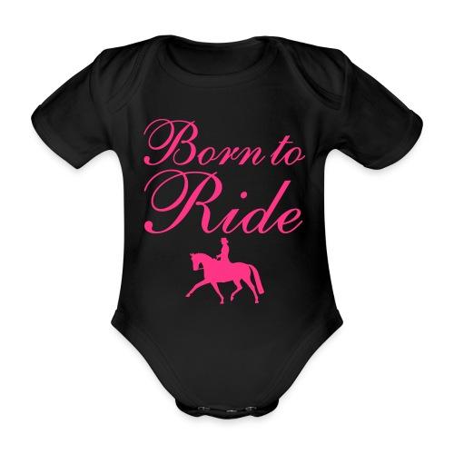 Born to ride babyrompertje - Baby bio-rompertje met korte mouwen
