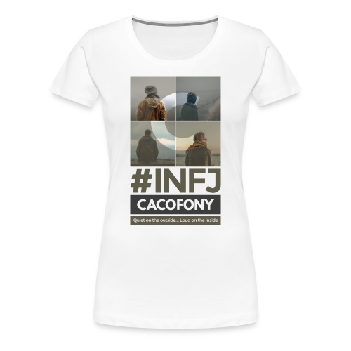 INFJ Quiet Outside Loud Inside - Dark - Women's Premium T-Shirt