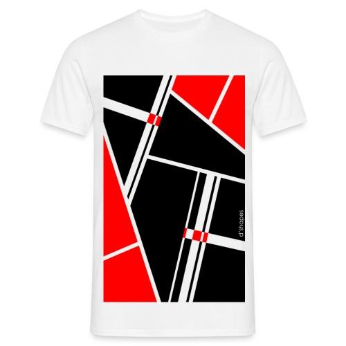 Blocks Red - Man T-shirt   - Maglietta da uomo
