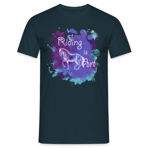 Riding is Art lila - Shirt Männer - Männer T-Shirt