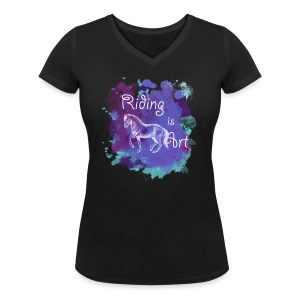 Riding is Art lila - Shirt V - Frauen T-Shirt mit V-Ausschnitt