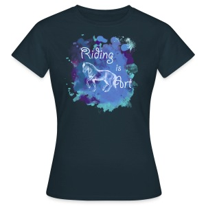Riding is Art blau - Shirt - Frauen T-Shirt