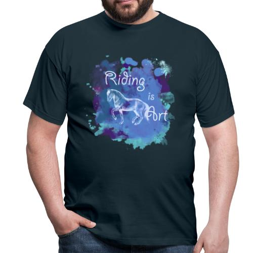 Riding is Art blau - Shirt Männer - Männer T-Shirt