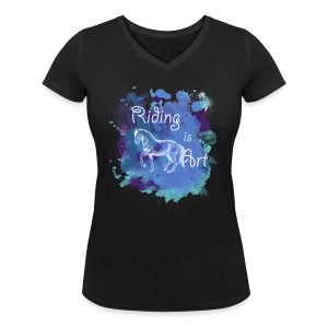 Riding is Art blau - Shirt V - Frauen T-Shirt mit V-Ausschnitt