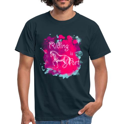 Riding is Art pink - Shirt Männer - Männer T-Shirt