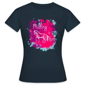 Riding is Art pink - Shirt - Frauen T-Shirt