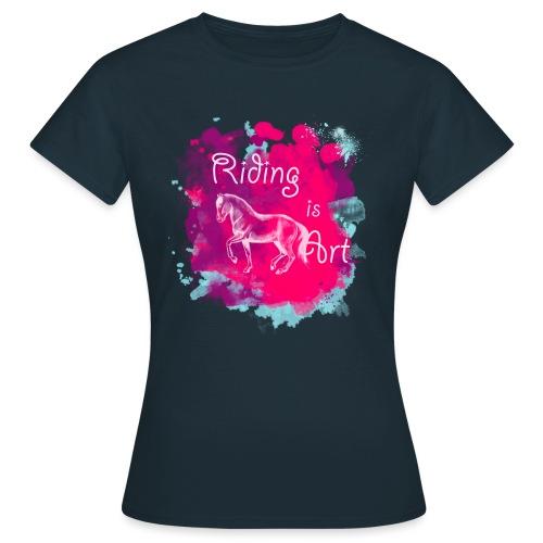 Riding is Art pink - Shirt - Frauen T-Shirt