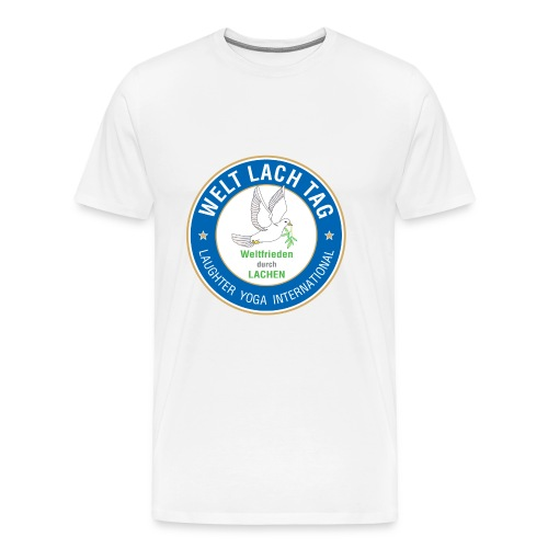 WELTLACHTAG T-Shirt mit aktuellem Logo - Männer Premium T-Shirt