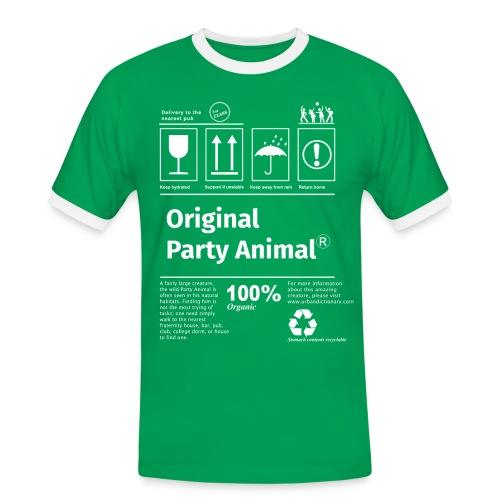 Party like an animal T-shirt - Miesten kontrastipaita