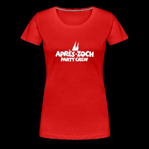 Après-Zoch Party Crew T-Shirt (Damen Rot) Dom - Frauen Premium T-Shirt