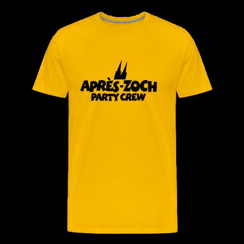 Après-Zoch Party Crew T-Shirt (Herren/Gelb) Dom - Männer Premium T-Shirt