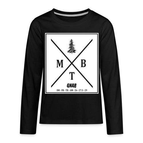 Teen Block MTB Logo - Teenagers' Premium Longsleeve Shirt