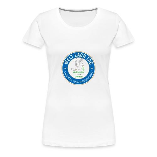 WELTLACHTAG T-Shirt mit aktuellem Logo - Frauen Premium T-Shirt