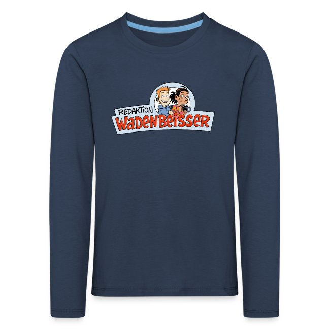 Kinder Premium Langarmshirt Logo