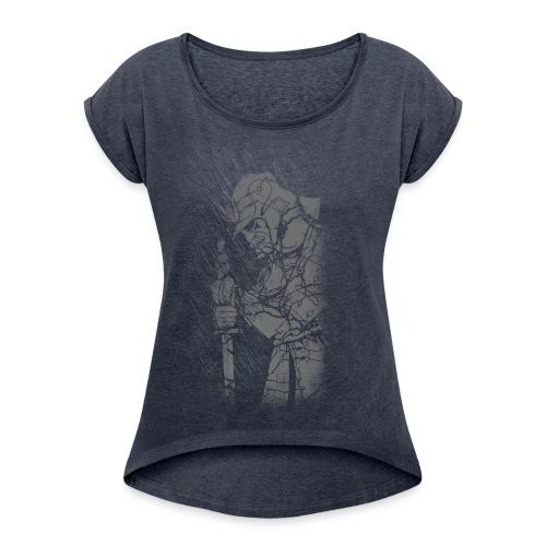 Samurai - Frauen T-Shirt mit gerollten Ärmeln