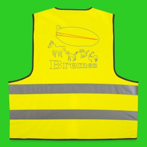 Bremen abstrakt, Safety Vest - Warnweste