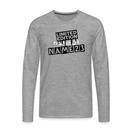 Limited Edition Name T-Shirt - Mannen Premium shirt met lange mouwen