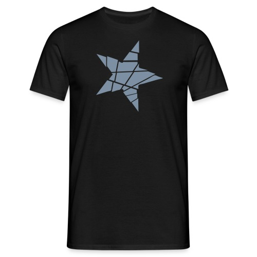 Men's Black/Silver Shattered Star T-Shirt - Men's T-Shirt