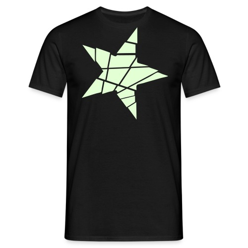 Men's Glow-In-The-Dark Shattered Star T-Shirt - Men's T-Shirt