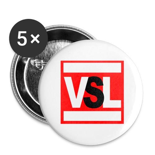 Pins logo quadrato - Confezione da 5 spille grandi (56 mm)