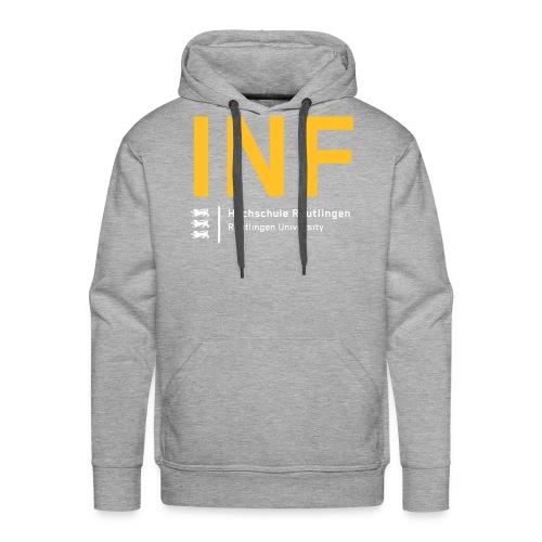 INF Hoodie grau - Männer Premium Hoodie