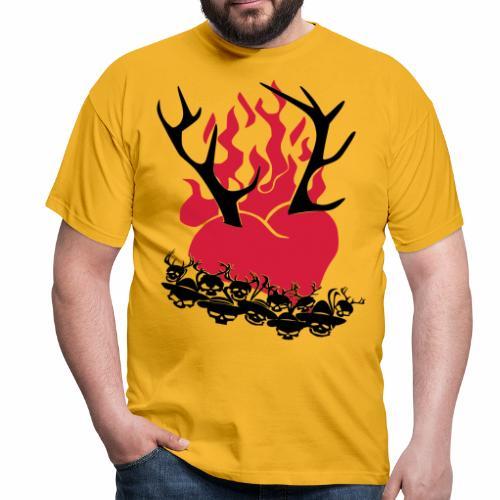 Männer T-Shirt - oktoberfest,Gaudishirt,wild t-shirt,dirndl,lederhose,tracht t-shirt,österreich t-shirt,hirsch,lausmadl, rock mi