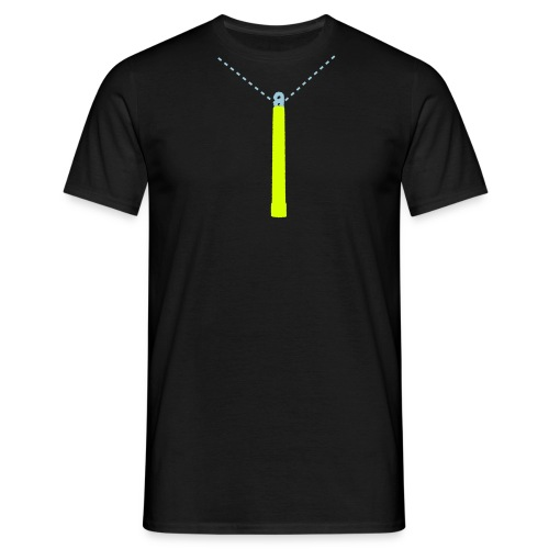 Neon Yellow Glow-Stick T-Shirt - Men's T-Shirt