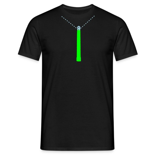 Neon Green Glow-Stick T-Shirt - Men's T-Shirt