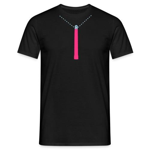 Neon Pink Glow-Stick T-Shirt - Men's T-Shirt
