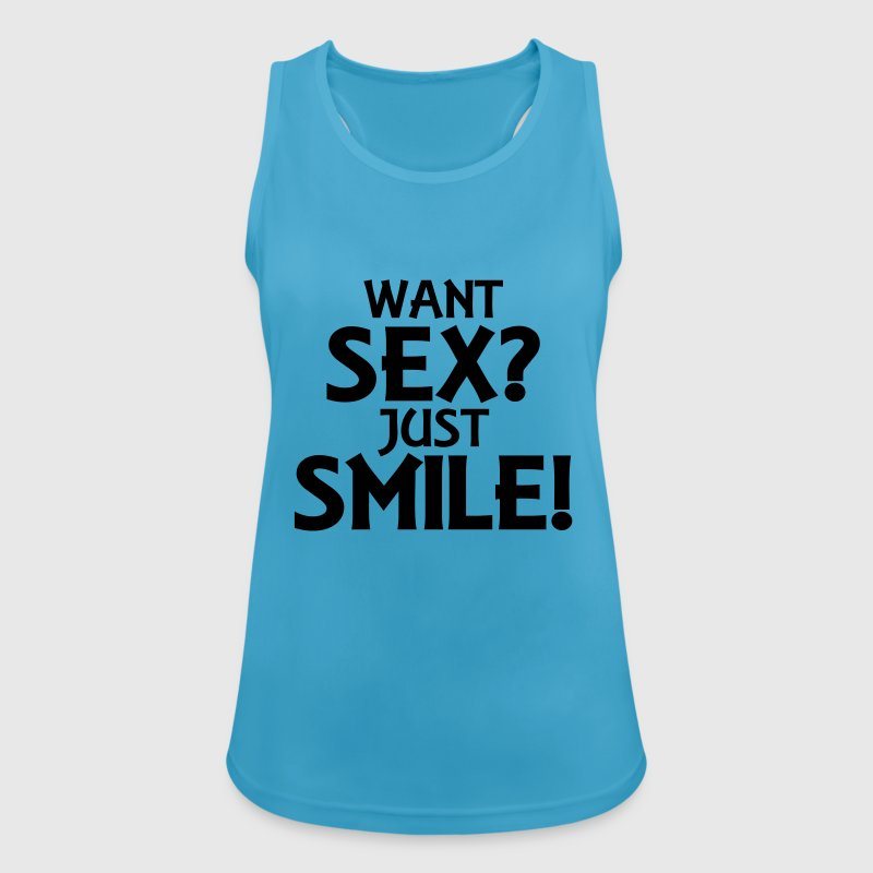 Want sex? Just smile! Tops - Women's Breathable Tank Top