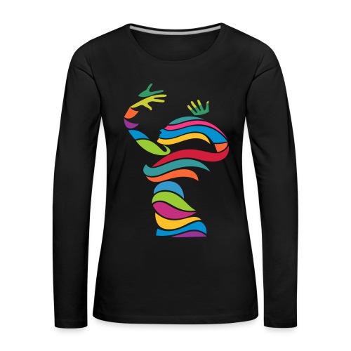 Wellentänzerin-Frauen-Langarmshirt - Frauen Premium Langarmshirt