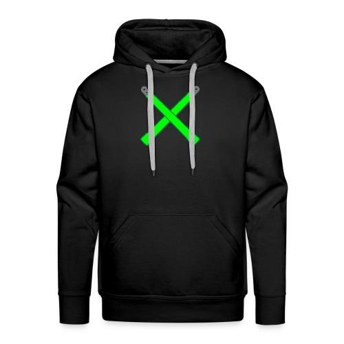 Neon Green Crossed Glowsticks Hoodie - Men's Premium Hoodie