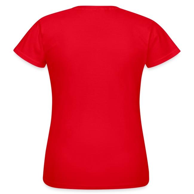Günstiges T-Shirt Damen, Folien-Text pink/weiß