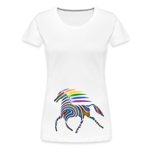 Flaming Horse-Frauen-T-Shirt - Frauen Premium T-Shirt
