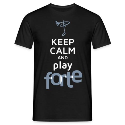 Günstiges T-Shirt Herren, Folien-Text silber/weiß - Männer T-Shirt