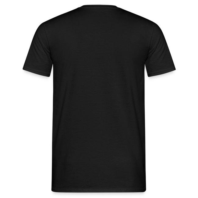 Günstiges T-Shirt Herren, Folien-Text silber/weiß