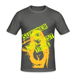 T-Shirt Summer is the best Time - Männer Slim Fit T-Shirt