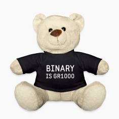 Binary is Great (GR8) Maths Joke Teddy Bear Toys