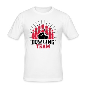 Bowling team T-Shirts - Männer Slim Fit T-Shirt