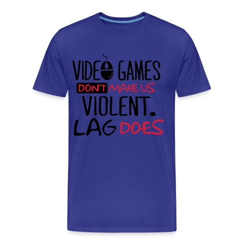 Video Games Dont Make Us - Men's Premium T-Shirt