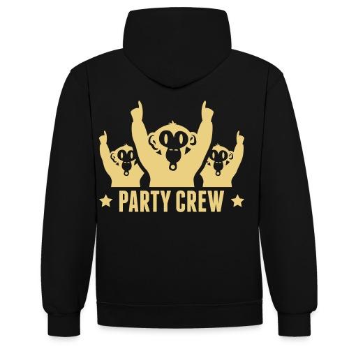 Dj Paxin PARTY CREW. - Kontrast-hættetrøje