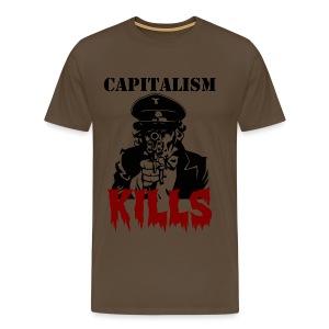 Capitalism Kills - Miesten premium t-paita