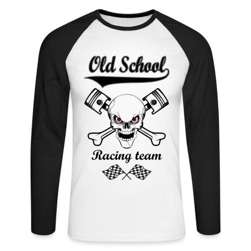 Old School Racing Team - Men's Long Sleeve Baseball T-Shirt