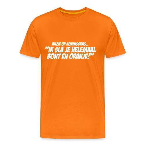 Ruzie op Koningsdag T-shirt - Mannen Premium T-shirt